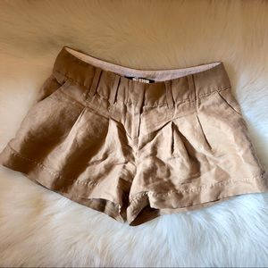 Anthropologie tan shorts